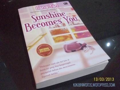 """Sunshine Becomes You"" front cover"